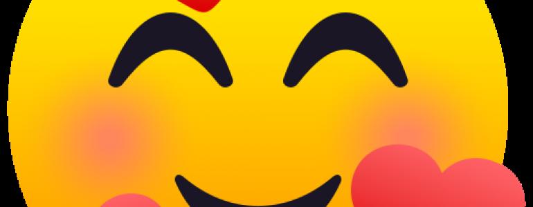絵文字一覧: ハートの笑顔
